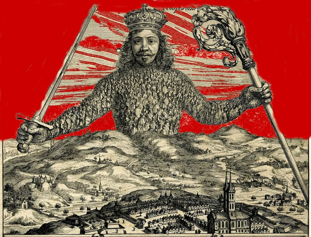 Leviatano di Thomas Hobbes frontespizio superiore (modificato)